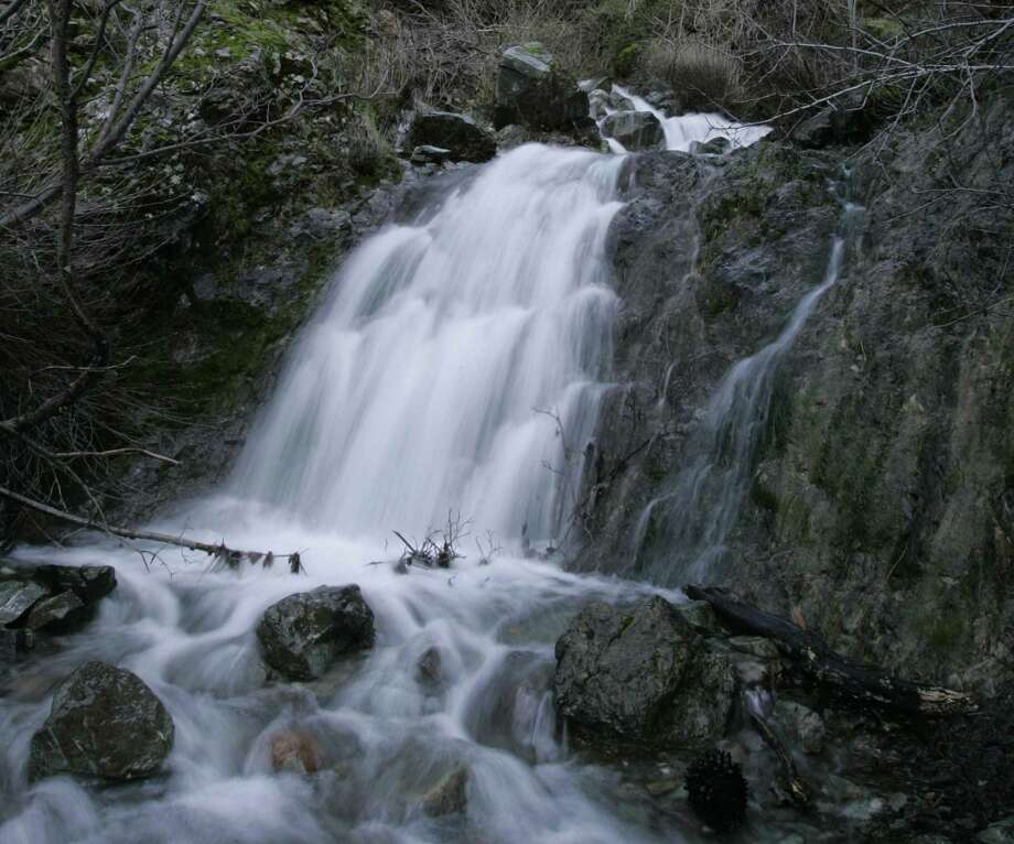 One of the cascading falls of Donner Creek in upper Donner Canyon. Photo: Michael Maloney / Michael Maloney / The Chronicle / The Chronicle