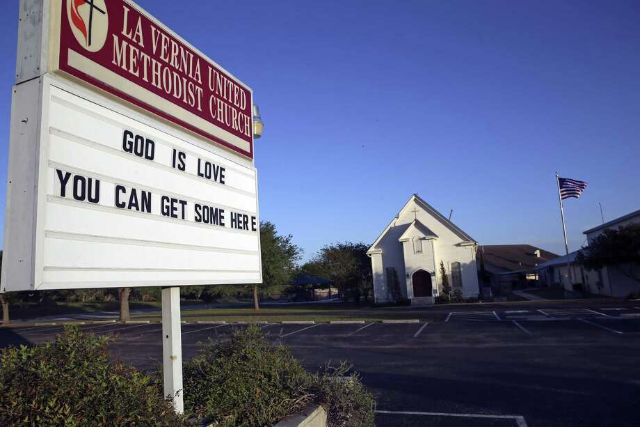 The United Methodist Church posts a message in La Vernia on March 31, 2017. Photo: Tom Reel, Staff / San Antonio Express-News / 2017 SAN ANTONIO EXPRESS-NEWS
