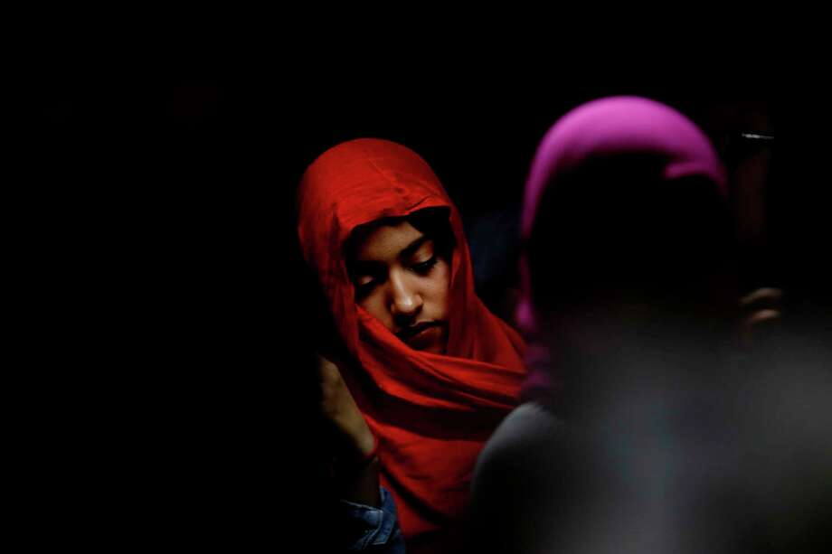 Lezeth Estrada, 15, of Anaheim, celebrated World Hijab Day last month at the Islamic Society of Orange County in Garden Grove, Calif. Photo: Francine Orr, MBR / Los Angeles Times