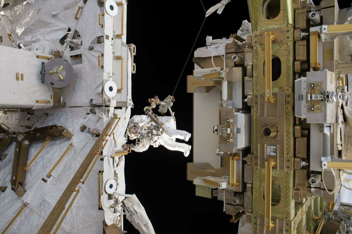 Astronauts based on the International Space Station - one is seen here on a spacewalk last week - routinely conduct experiments such as exploring the effects of microgravity on metabolism and the immune system.