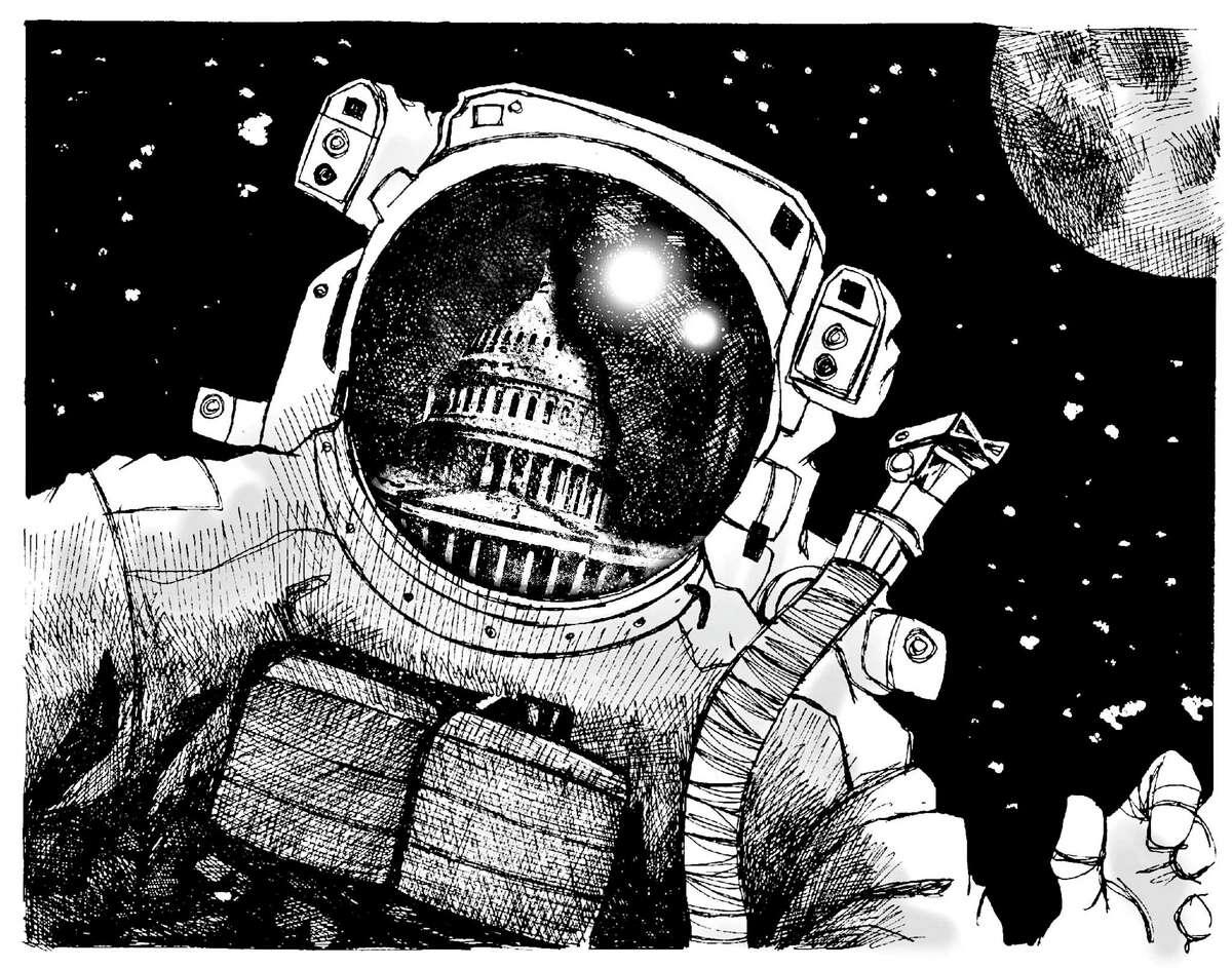 NASA budget illustration for 0402 Outlook Paul Lachine   Robert Wuensche illustration/ Houston Chronicle