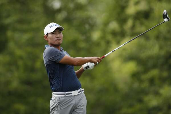 Sung Kang drives the ball on the 15th tee during the third round of the Shell Houston Open on Saturday, April 1, 2017 at The Golf Club of Houston in Humble Texas.