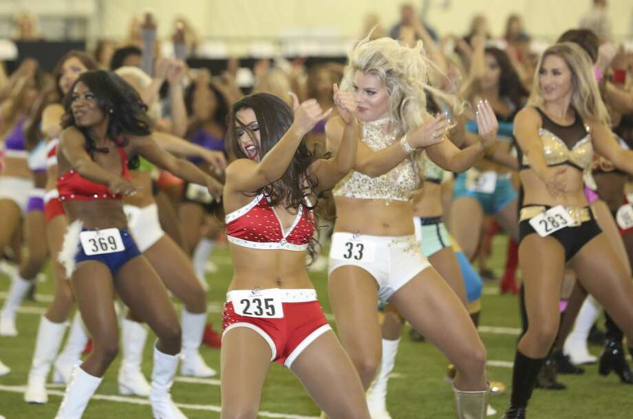 More than 400 Houstonians tried out to be Texans cheerleaders. Almost all the hopefuls were women. Photo: Yi-Chin Lee/Houston Chronicle