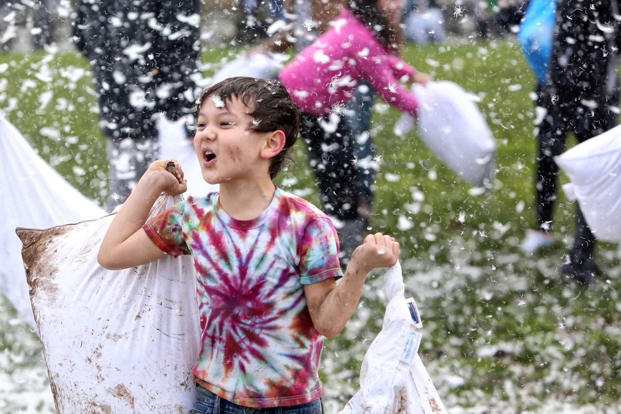 Capitol Honda Service >> The feathers fly on International Pillow Fight Day in ...