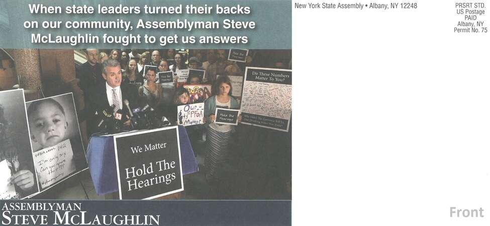 Mailer from Assemblyman Steve McLaughlin.