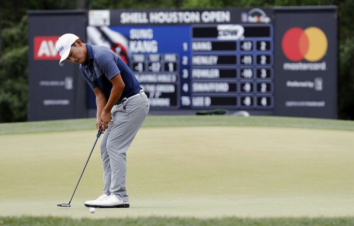Sung Kang putts on the second hole during the third round of the Shell Houston Open on Saturday, April 1, 2017 at The Golf Club of Houston in Humble Texas.