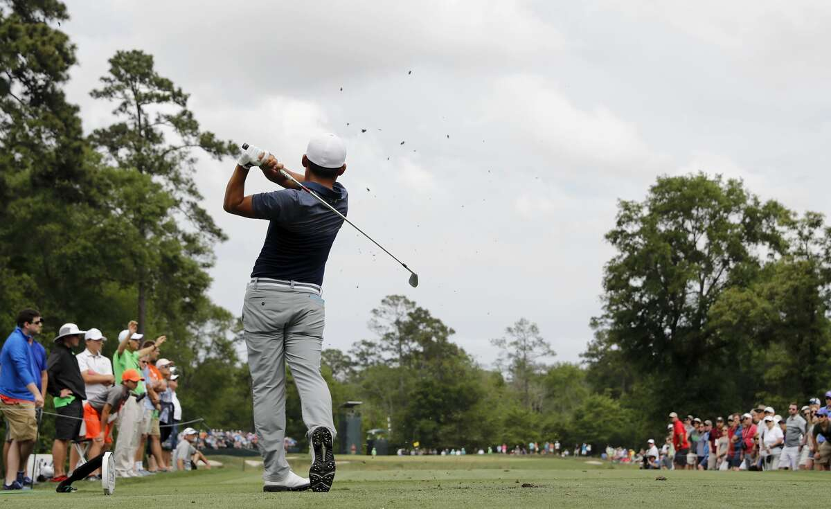Sung Kang hits a tee shot on the ninth hole during the third round of the Shell Houston Open on Saturday, April 1, 2017 at The Golf Club of Houston in Humble Texas.