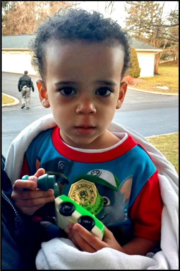 State Police released this picture of a three-year-old who was wandering alone