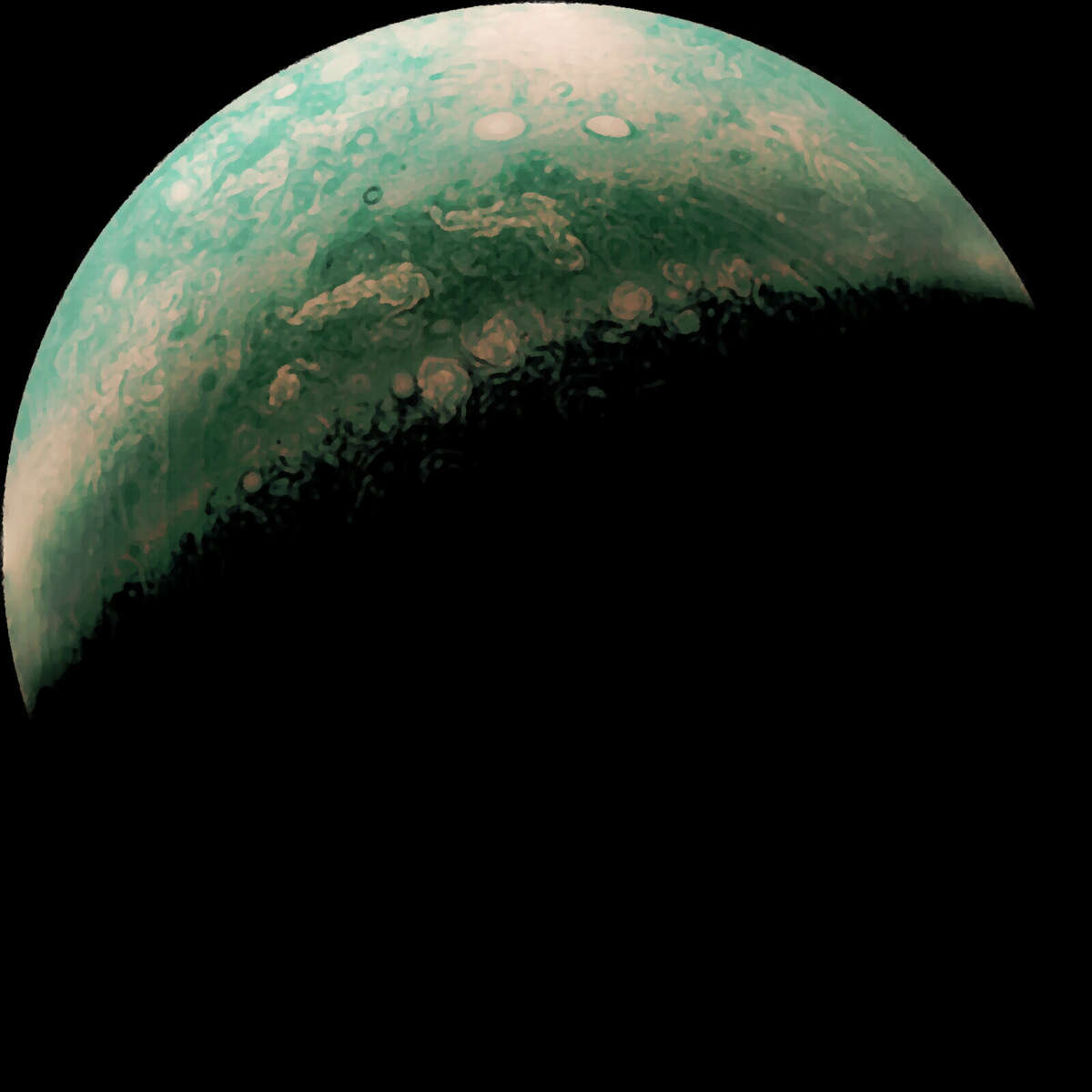 Another person processed the same raw image to show more green-colored details.