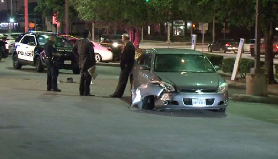 A man is wanted after ramming a police officer with his car. Photo: Metro Video