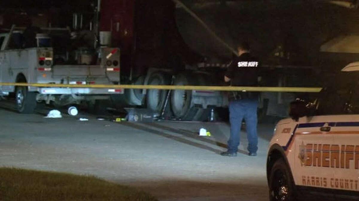 An 18-wheeler mechanic was robbed at gunpoint Saturday night.