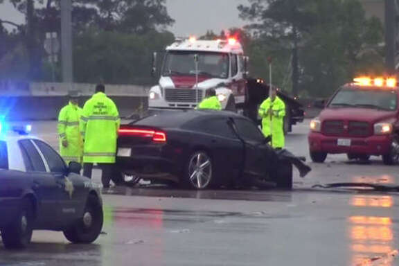 Three people died in a Northwest Freeway crash Sunday morning.