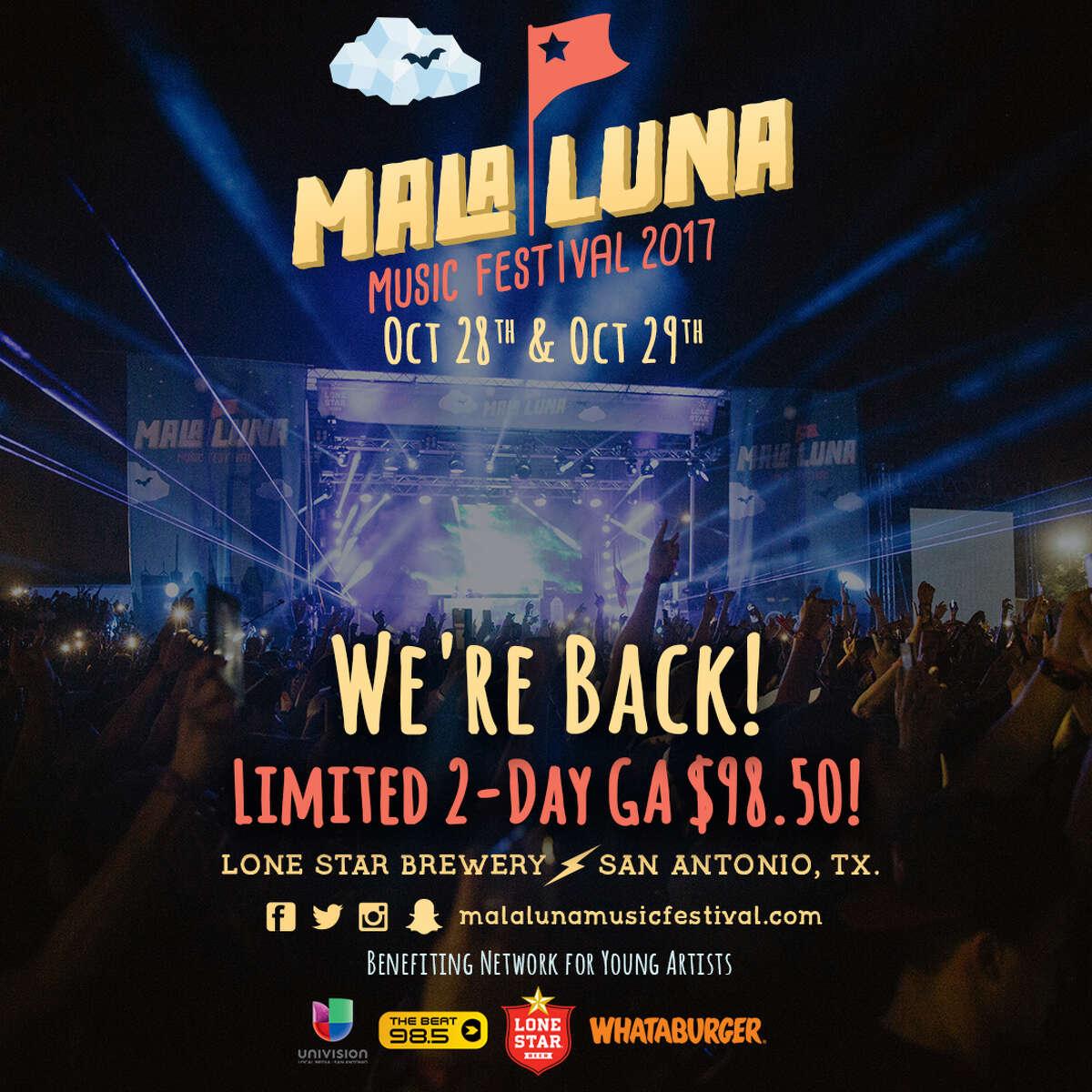 Luna Mala Music Festival 2017 teaser poster.