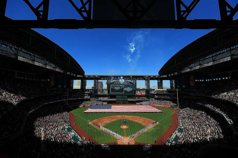 The Diamondbacks are planning to install a Coors Field style humidor to dampen the baseballs to help the pitchers grip them. Photo: Ronald Martinez, Getty Images