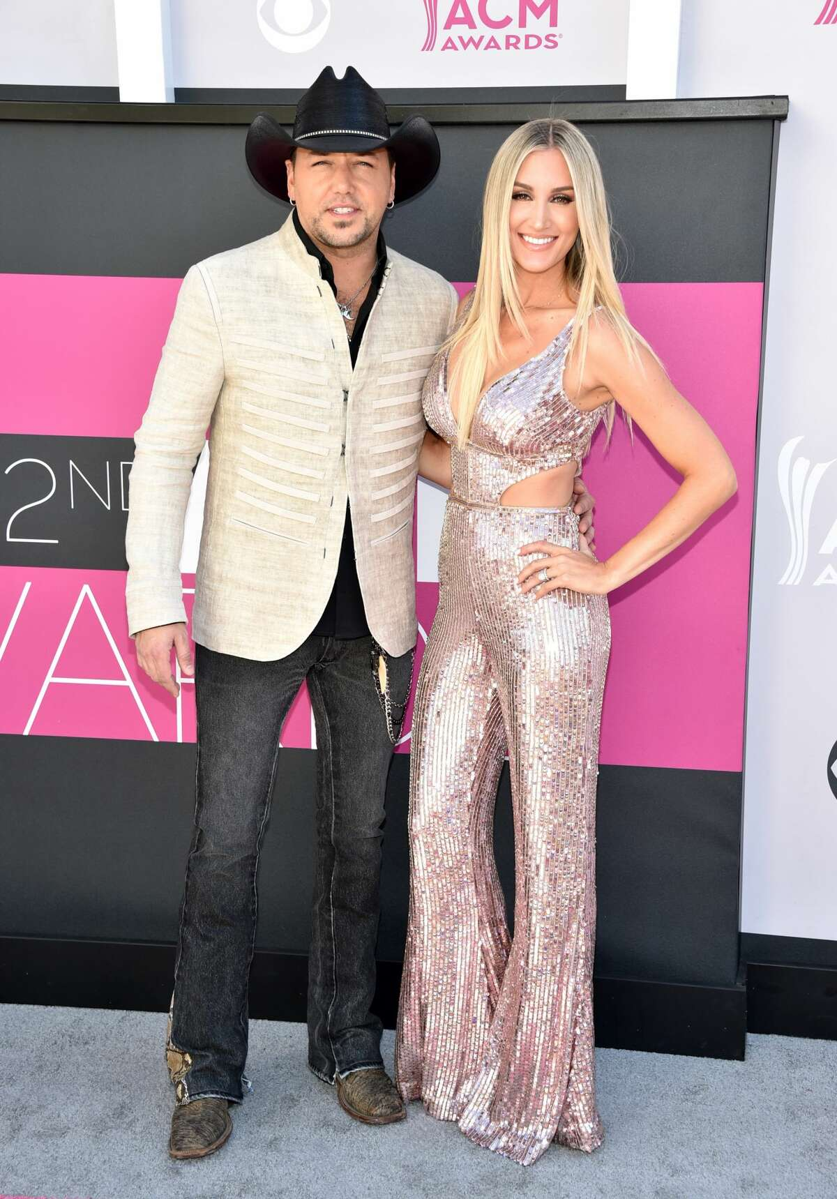 Worst: Jason Aldean (L) and Brittany Kerr look like a Las Vegas residency act.