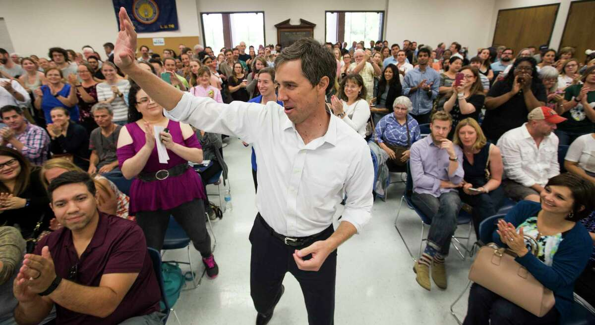 Rep. Beto O'Rourke, D-Texas, speaks to supporters during a Sunday campaign stop in his bid for a U.S. Senate seat. The little-known El Paso congressman is challenging incumbent Sen. Ted Cruz, R-Texas in a state that has not elected a Democrat statewide since 1994.
