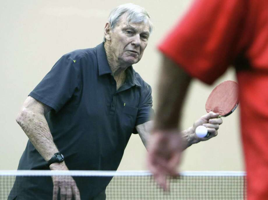Peter Snell makes a return. Peter Snell, a former Olympic gold medalist distance runner now in his 70s, excels at table tennis and will be playing in qualifier for the Texas State Senior Olympics on Sunday in San Antonio on April 2, 2017. Photo: Ron Cortes, Freelance / For The San Antonio Express-News / Ronald Cortes / Freelance