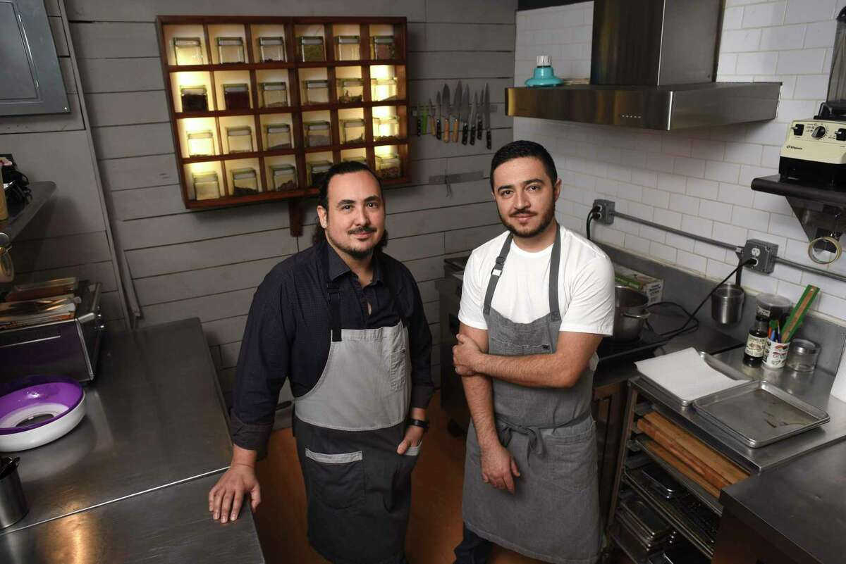 Mixtli chefs and co-owners Rico Torres, left, and Diego Galicia, are bringing take-home taco kits to their celebrated restaurant Mixtli in Olmos Park.