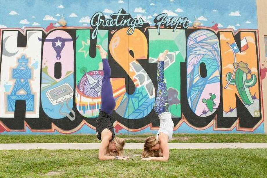 Instagram user @yogaandhops models the #ChronFit pose of the day. Photo: Instagram