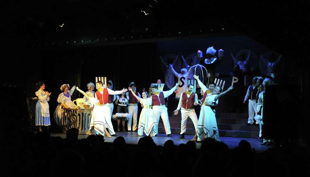 Opening Night For The Musical Performance Of Disneyu0027s Beauty And The Beast  At The Curtain Call