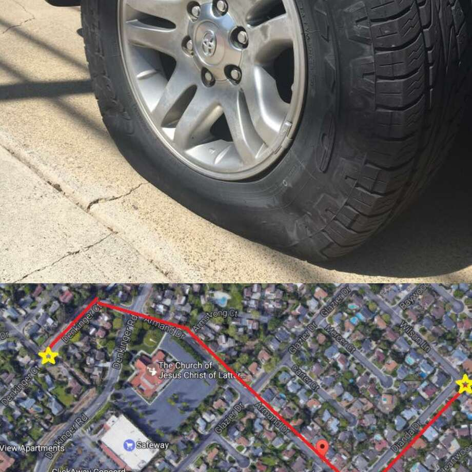 Concord police were on the search for suspects in the slashing of at least 20 cars in a residential neighborhood, officials said.