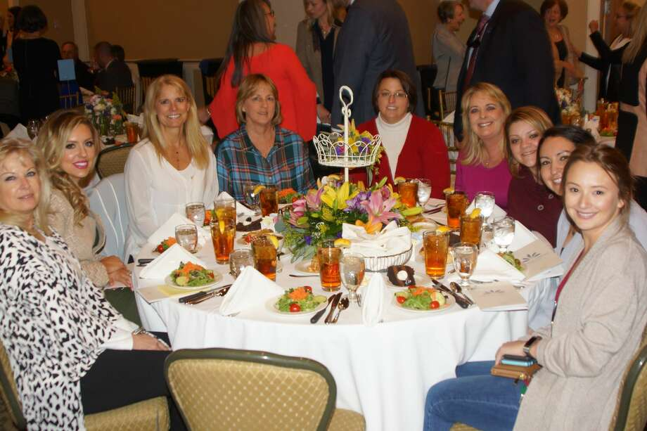 Bynum Blooms: Tracy Jackson, from left, Lyndsey Campbell, Sandy Kent, Terry Carter, Jennifer Gander, Tyna Gober, Lacey Griffice, Amanda Varela and Megan Matthews. Photo:   Courtesy Photo