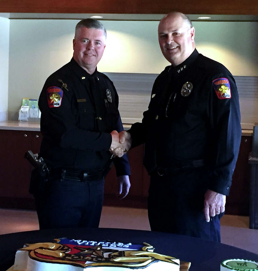 The Memorial Village Police Department bid a fond farewell to Police Chief J.D. Sanders, who performed his last day as chief on Friday as he retires from      35 years in law enforcement. Photo: Jaimy Jones
