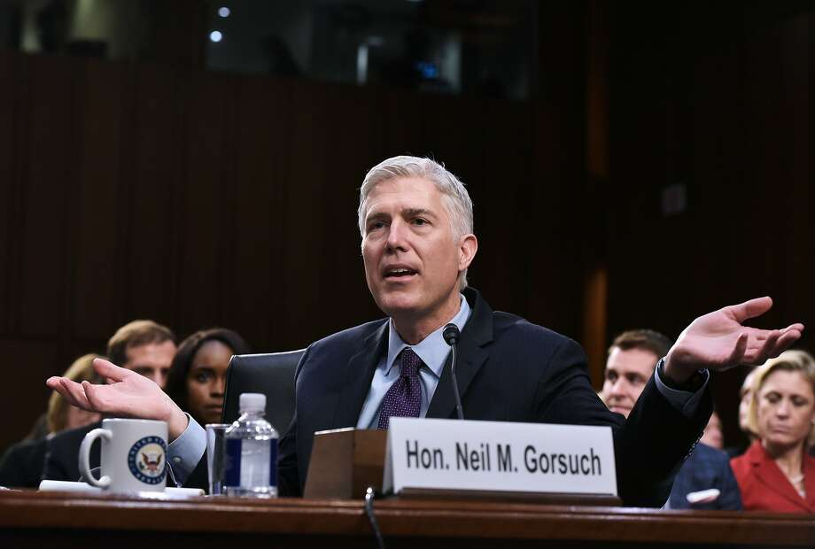 Neil Gorsuch testifies before Senate Judiciary Committee on March 21 on his nomination to the U.S. Supreme Court. Photo: MANDEL NGAN, AFP/Getty Images