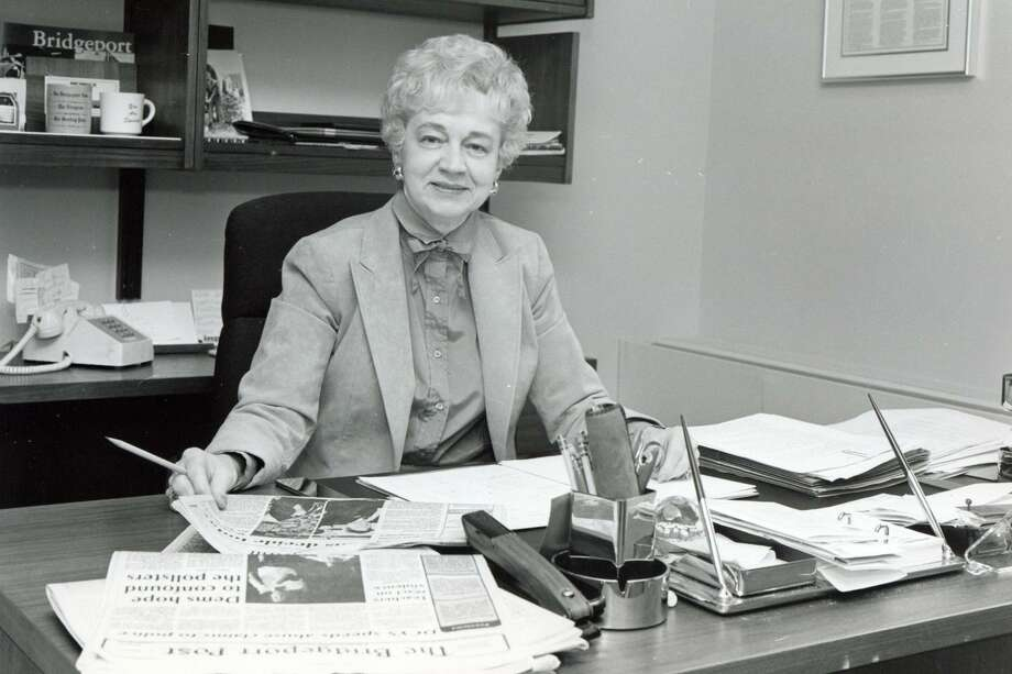 Elizabeth Pfriem, former publisher of the Post Publishing Company, Bridgeport, Conn., Nov. 1984. Pfriem died on Saturday, April 1, 2017. Photo: File Photo / Hearst Connecticut Media File Photo / Connecticut Post File Photo