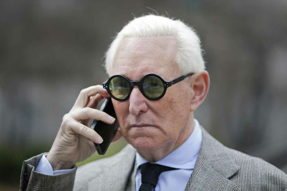 Roger Stone leaves court in New York, Thursday, March 30, 2017. Photo: Seth Wenig / Associated Press / AP