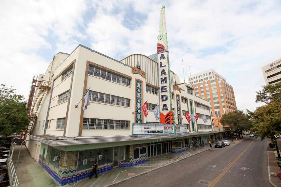 The Alameda Theater, which opened in 1949, is one of the latest and most exuberant examples of modernistic design in San Antonio. Photo: Courtesy City Of San Antonio