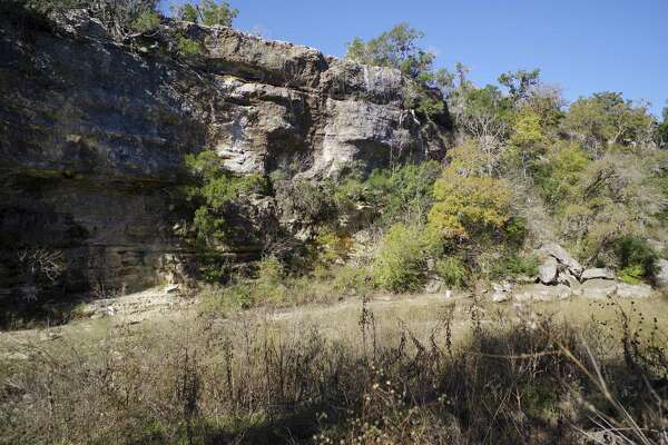 A creek containing fossilized dinosaur tracks is seen on Tuesday, Nov. 29, 2016, at Government Canyon State Natural Area in San Antonio.
