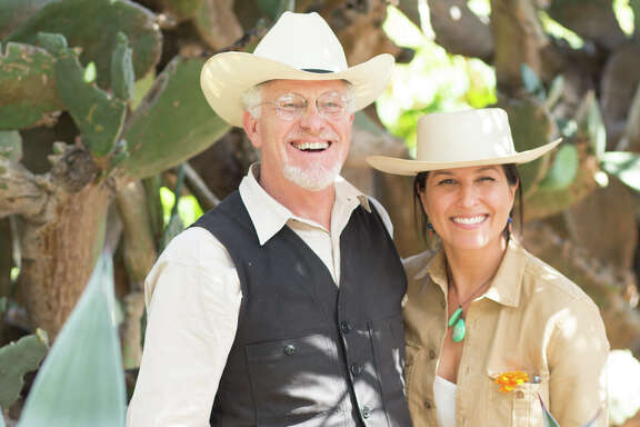 Lee Hudson, who grew up in Houston's Tanglewood, andCristina Salas-Porras Hudson share a love for the land.