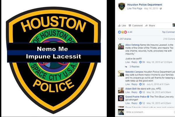 Houston PD updates its Facebook profile picture in wake of