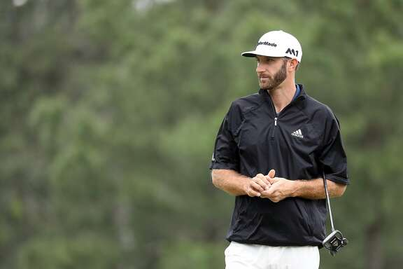 AUGUSTA, GA - APRIL 03:  Dustin Johnson of the United States looks on during a practice round prior to the start of the 2017 Masters Tournament at Augusta National Golf Club on April 3, 2017 in Augusta, Georgia.  (Photo by Rob Carr/Getty Images)