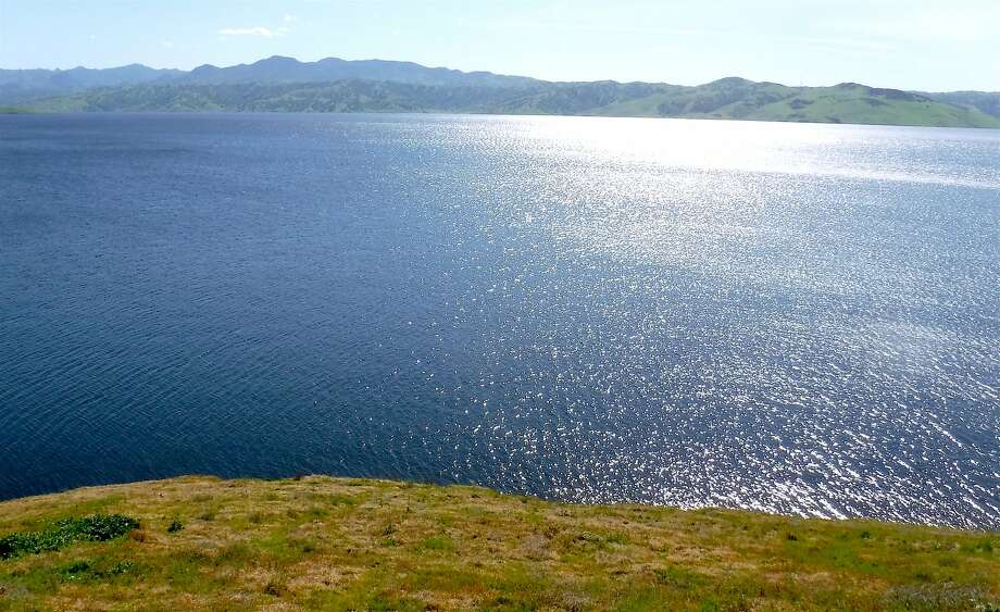 Giant San Luis Reservoir in Merced County is now full after starting the winter at only 13 percent of capacity. Photo: Tom Stienstra, Tom Stienstra / The Chronicle
