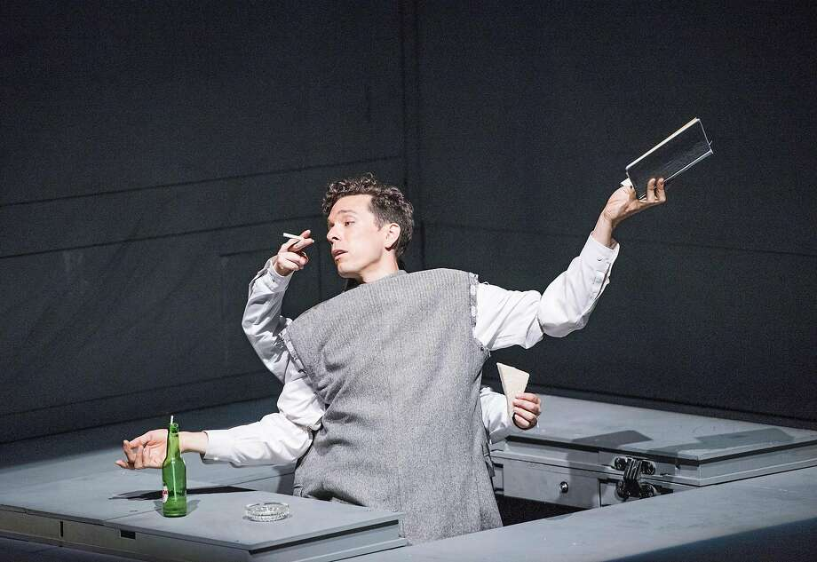 "Olivier Normand in Robert Lepage's ""Needles and Opium"" at ACT. Photo: Tristram Kenton, �Tristram Kenton"