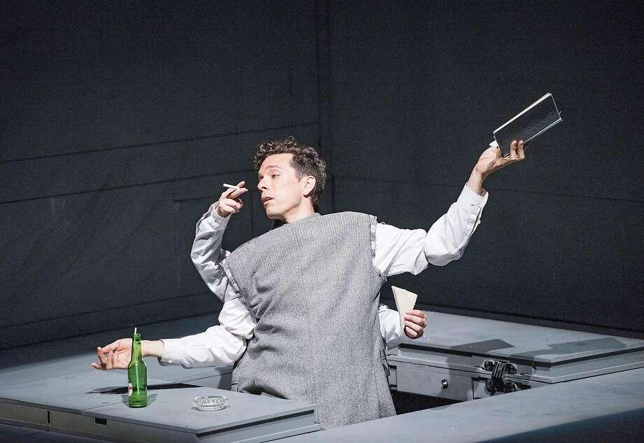 "Olivier Normand in Robert Lepage's ""Needles and Opium"" at ACT. Photo: Tristram Kenton, �Tristram Kenton"