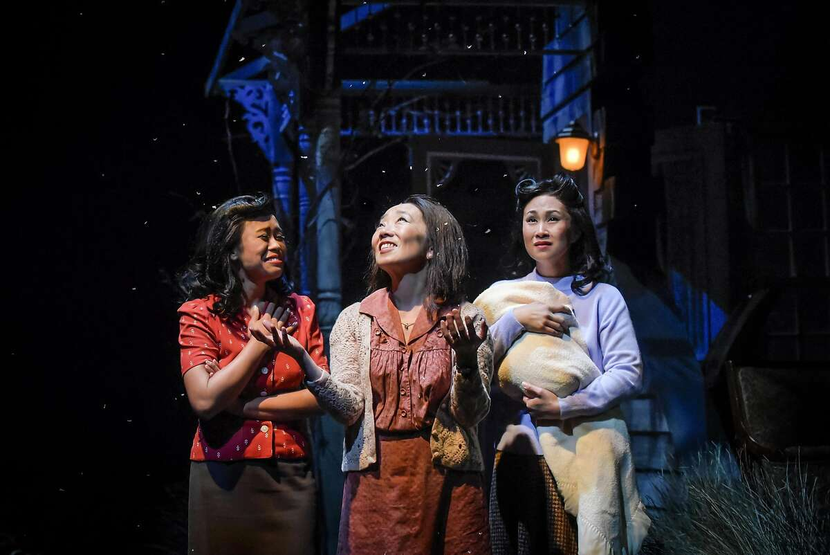 From left:�Carina Lastimosa, Keiko Shimosato Carreiro and Melissa Locsin in Center Rep's