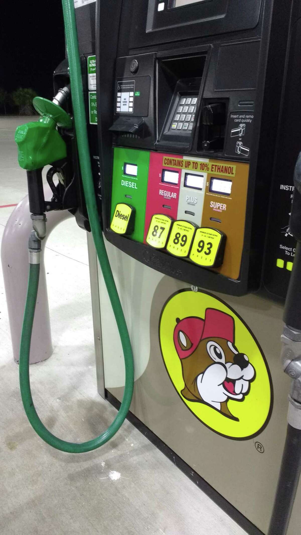 A fill-up at the Texas City Buc-ee's.