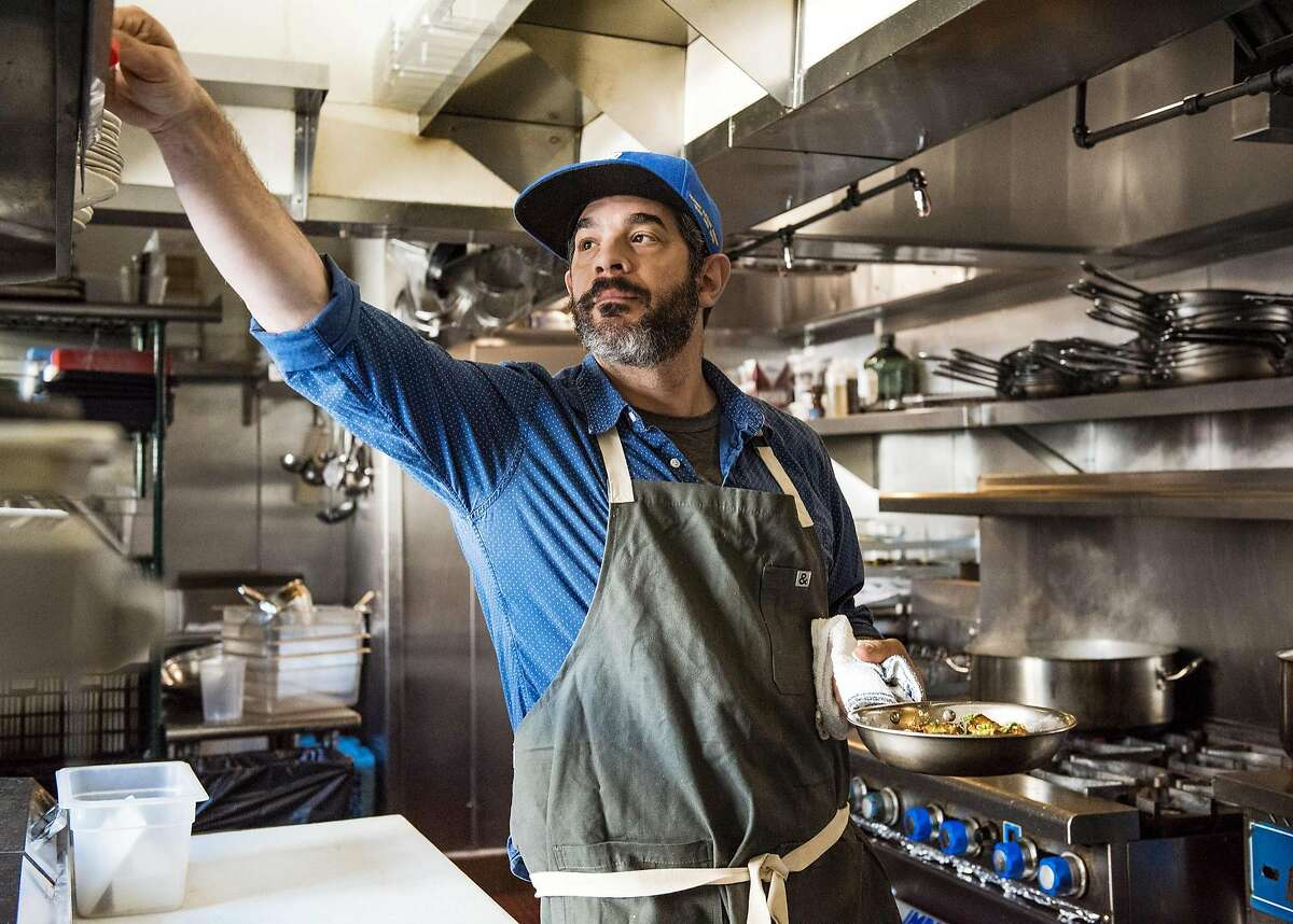 Chef Jeremy Fox at Rustic Canyon Wine Bar and Seasonal Kitchen in Santa Monica.