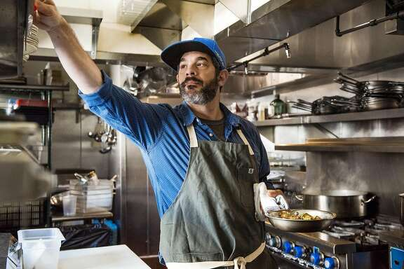 Chef Jeremy Fox, Rustic Canyon Wine Bar and Seasonal Kitchen. Santa Monica, Los Angeles, CA. March 30,2017