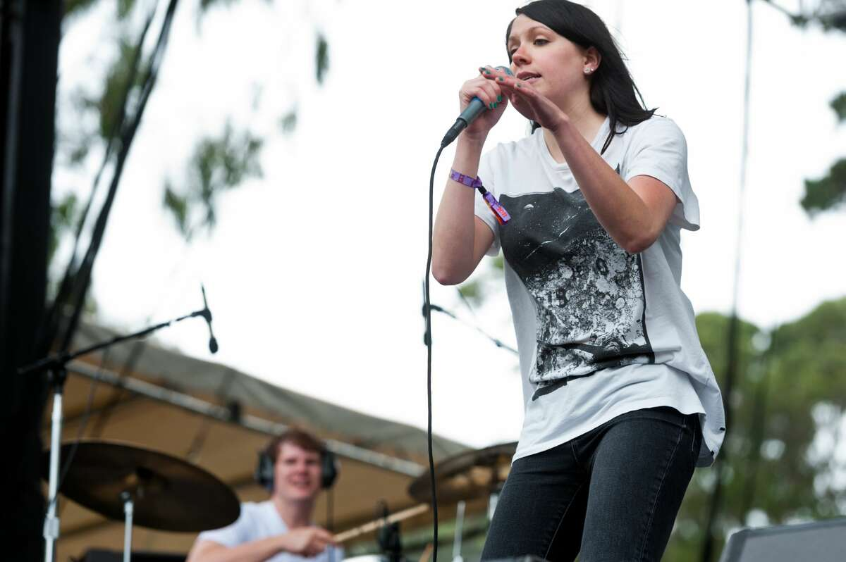 K.Flay performs on stage during the Outside Lands Music Festival 2011 in San Francisco, California. (Photo by Paul R. Giunta/Getty Images)