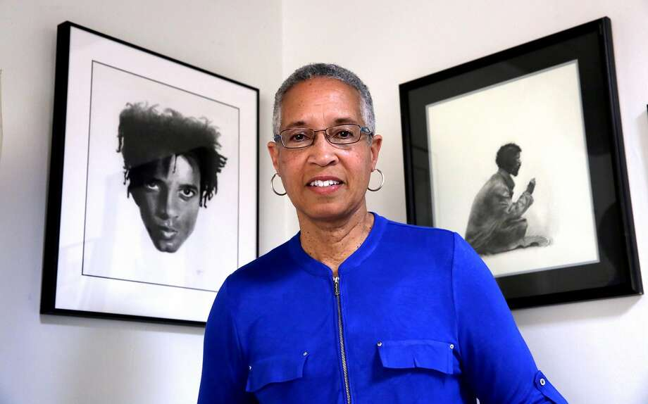 """LaDoris Cordell in front of her charcoal drawings, """"Hair"""" and """"Homeless"""" in her Palo Alto, Ca. home on Mon. April 3 2017. Cordell a retired Superior Court Judge and associate dean at Stanford Law School has just landed a television job as a presiding judge on a show called """"You the Jury. Photo: Michael Macor, The Chronicle"""