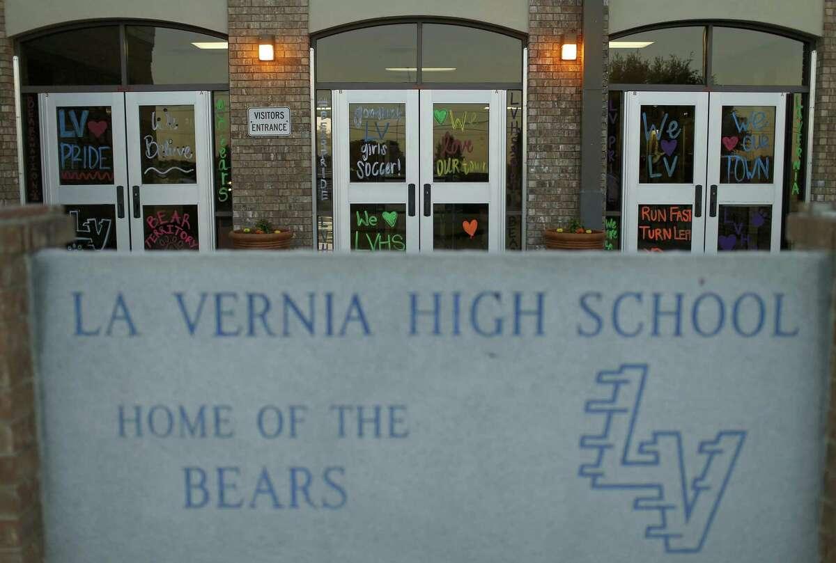 A view of La Vernia High School, Monday April 3, 2017 in La Vernia, TX, during a La Vernia Independent School District Board of Trustees meeting.