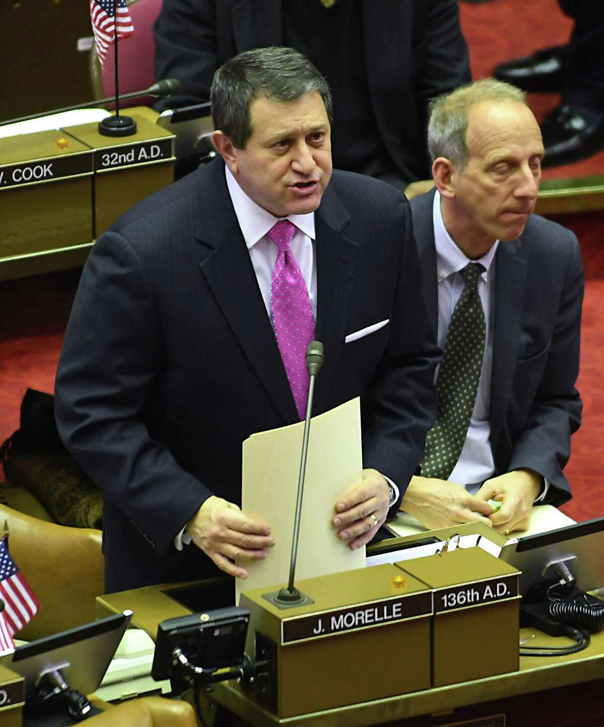 Assembly Majority Leader Joseph Morelle was a champion of expanding the state's paid family leave program to include bereavement leave (Lori Van Buren / Times Union)