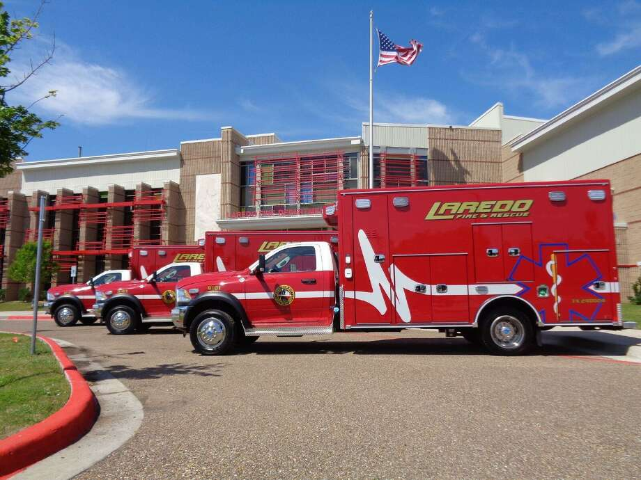 In this file photo, Laredo Fire Department ambulances are pictured. Photo: Courtesy Photo /Laredo Fire Department