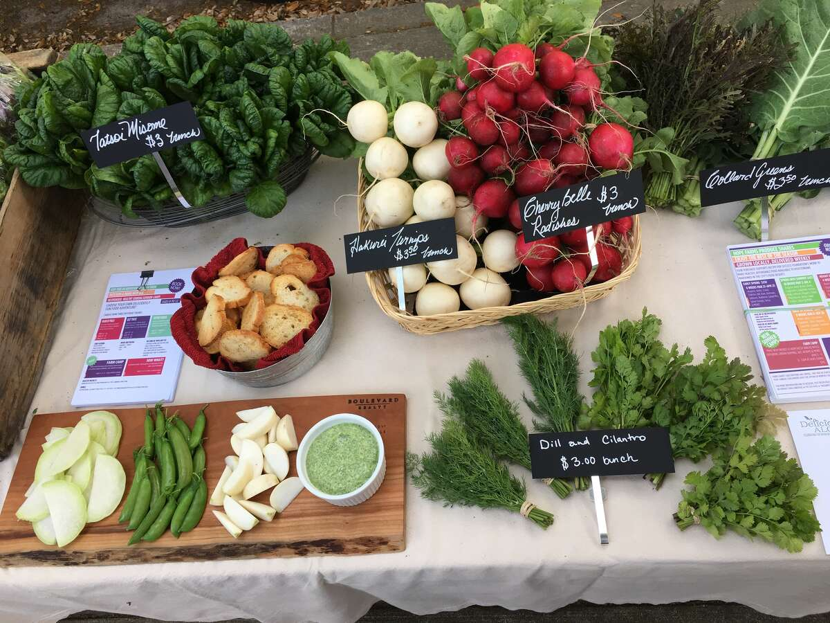 Recipe for Success is opening its Hope Farms, 10401 Scott, on Earth Day: April 22, 2017. Shown: Produce from the Rolling Green Market.