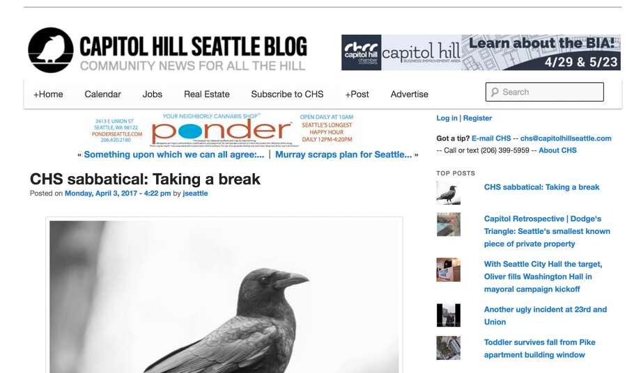 The announcementon the Capitol Hill Seattle Blog. Photo: Capitolhillseattle.com