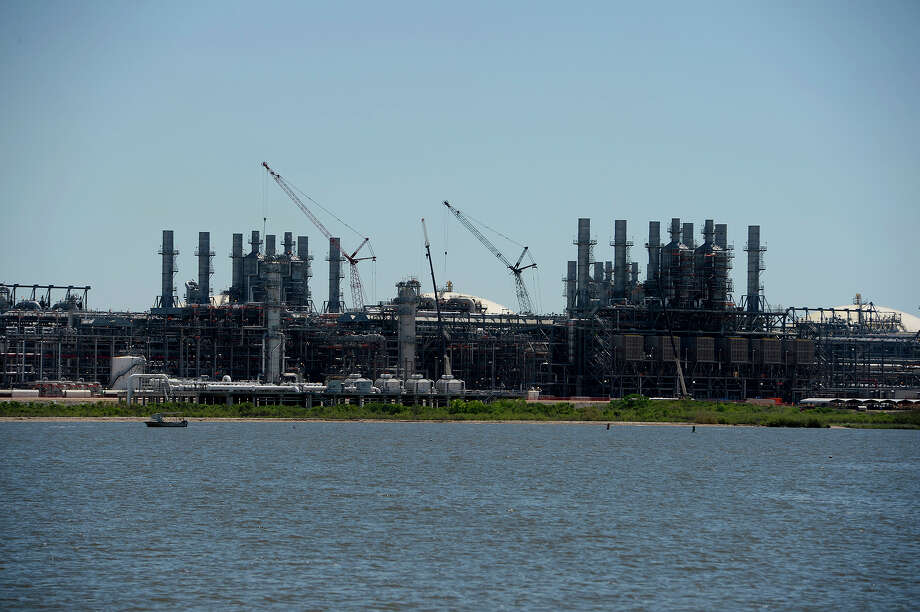 Cheniere Energy's Sabine Pass terminal for liquefied natural gas on Monday. The terminal shipped their 100th tanker of LNG on Saturday and is expanding.  Photo taken Monday 4/3/17 Ryan Pelham/The Enterprise Photo: Ryan Pelham, Ryan Pelham/The Enterprise / ©2017 The Beaumont Enterprise/Ryan Pelham
